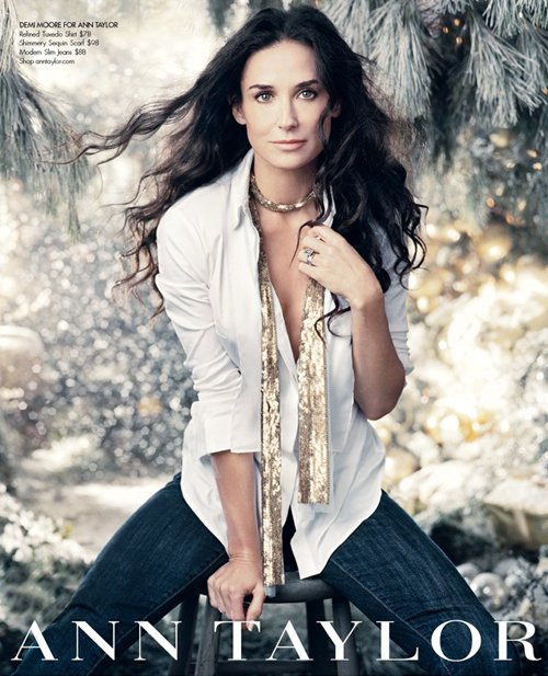 Demi Moore's Ann Taylor Holiday Ad Photoshoot