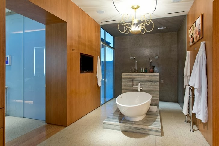Fifth bathroom in Multimillion modern dream home in Las Vegas
