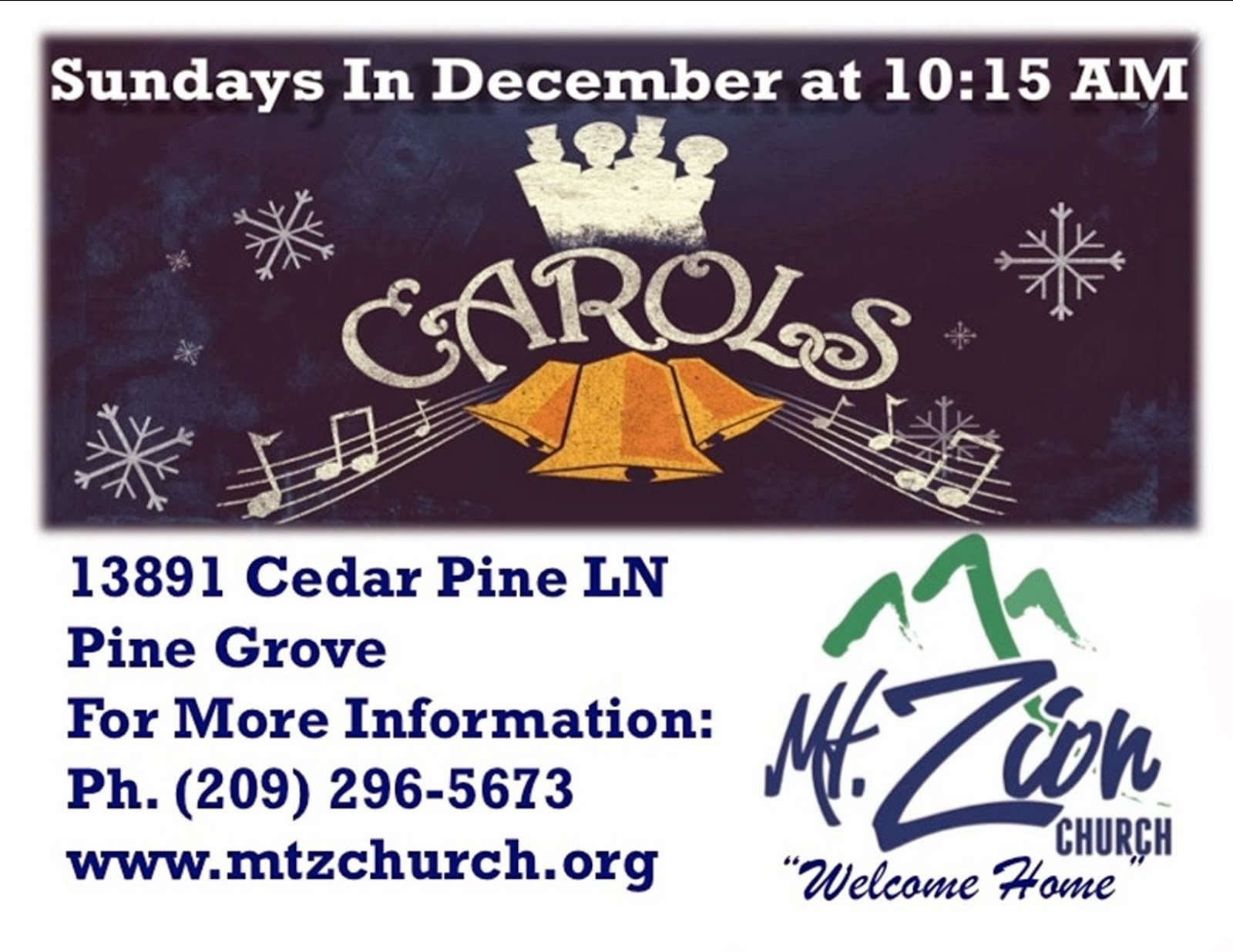 """Carols"" at Mt. Zion Church"