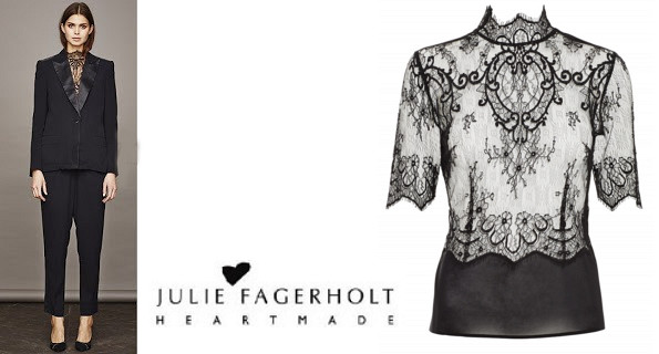 Crown Princess Mary's HEARTMADE-Julie Fagerholt Lace Shirt