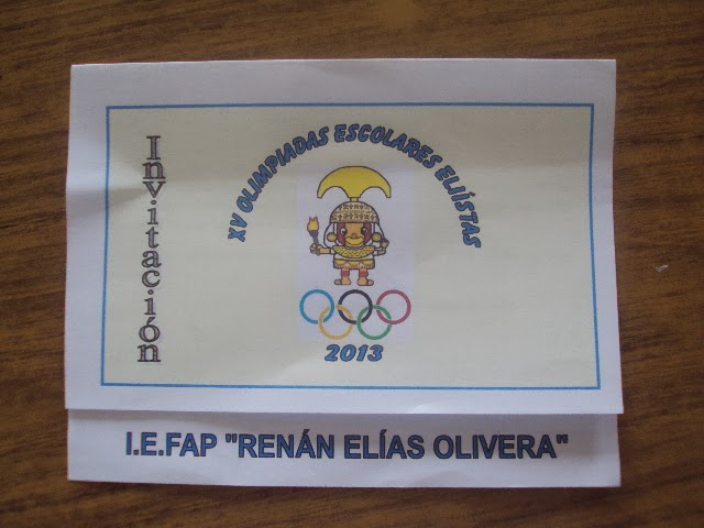 XV OLIMPIADAS ELIÍSTAS 2013
