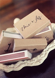 wedding matches favor