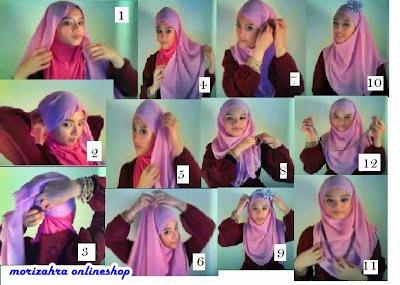 Morizahra Foundation: gambar tutorial cara memakai hijab