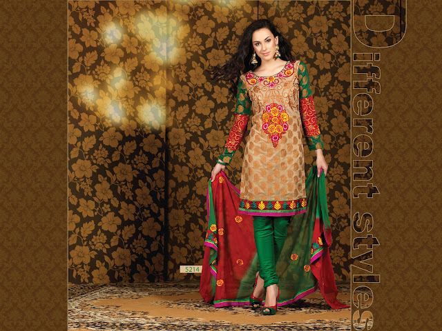 Designer Salwar Kameez Suits, Party Wear Churidar Salwar Kameez in Canada