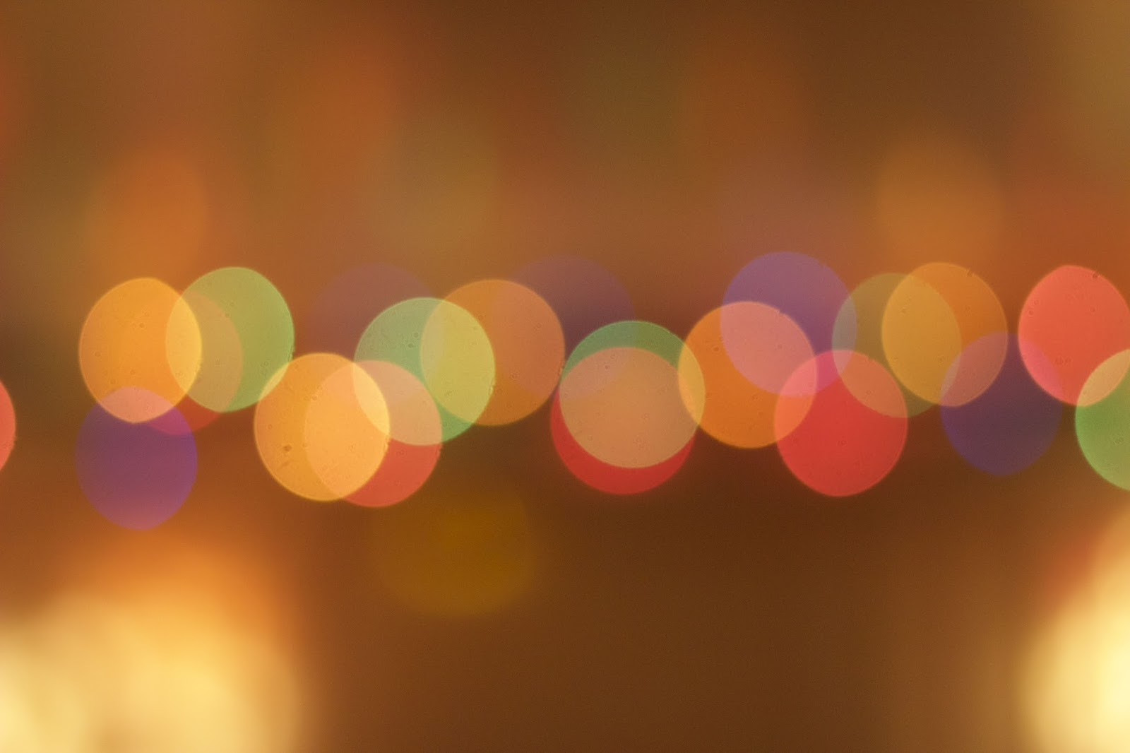 Blurred Bokeh Fairy Lights