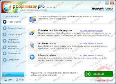 PC Optimizer Pro 6.5.2.4 [+ Portable] Descargar Gratis programas