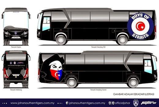 Penyokong Bola Sepak Johor BOS Dapat Bas Rasmi, info sukan, bola sepak, Johor, BOS, Boys Of Straits