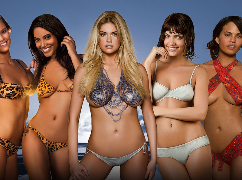 2013 Sports Illustrated Bathing Suit Models In Nothing But Body Paint.