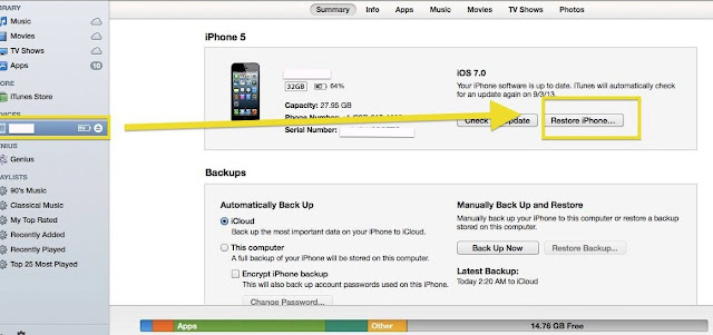Cara Backup dan Restore iPhone di iTunes