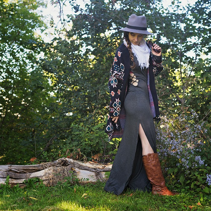 Maxi-Dress-Chunky-Cardigan-Fedora