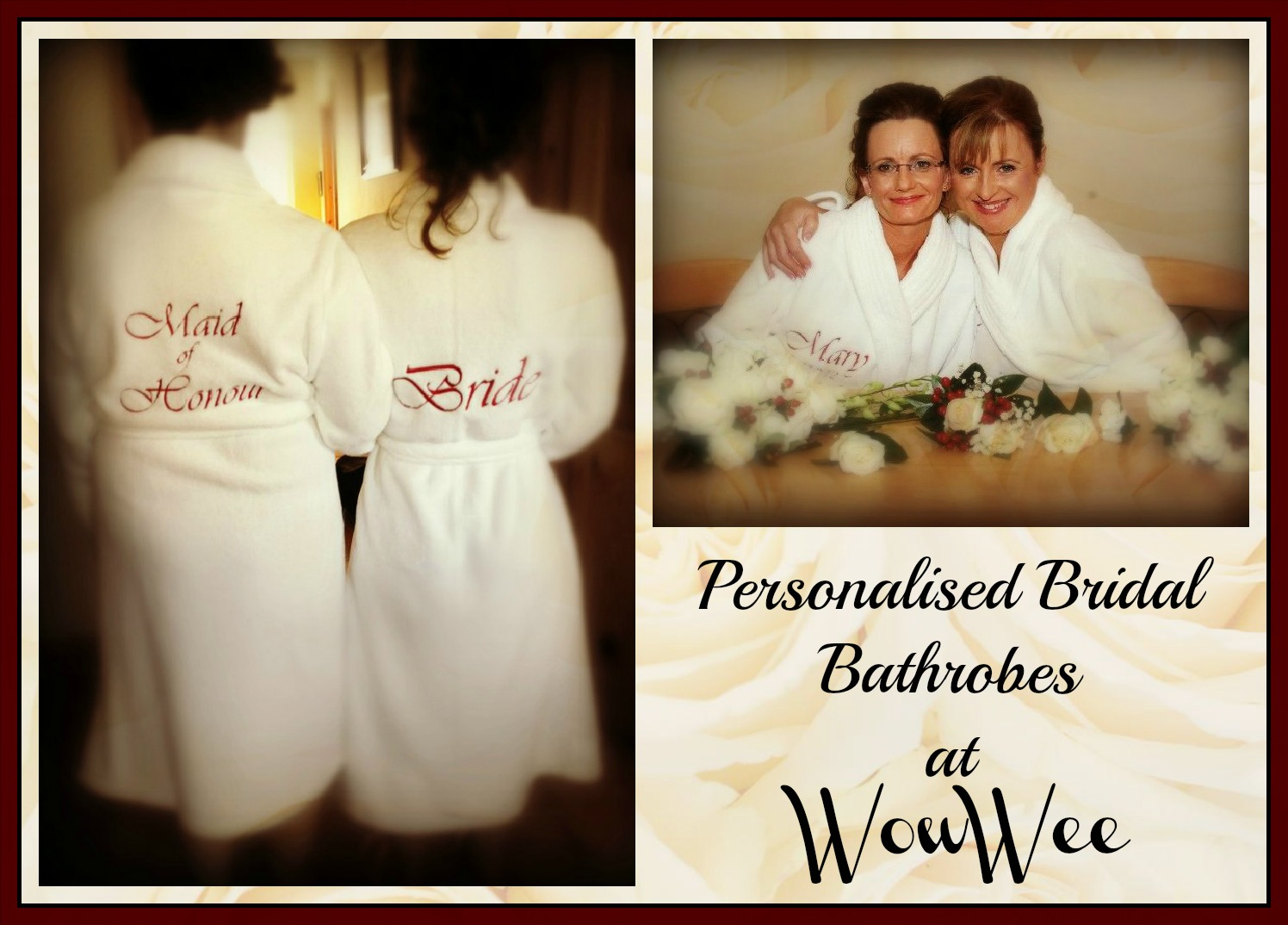 Personalised Bridal Dressing Gowns | Personalised Bridal Dressing Gowns