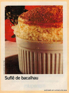 RECEITA DE SUFLÈ DE BACALHAU