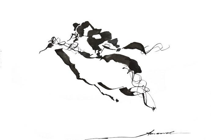 Cavalier sur deux chevaux