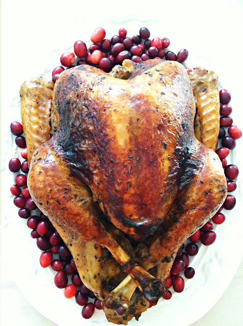 Beautiful Thanksgiving Turkey. Our Thanksgiving Menu via www.frugalitygal.com