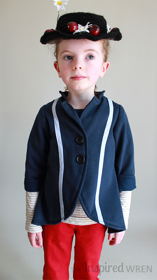 Sew a Mary Poppins-inspired jacket out of sweatshirting for everyday wear | The Inspired Wren for CraftingCon