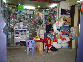 Purchasing clothing Ben Thanh Market. Ho Chi Minh. Vietnam
