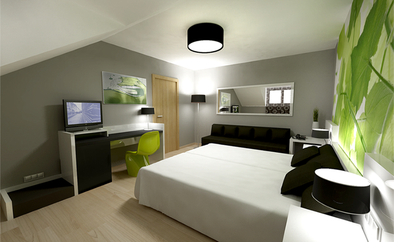 Zara Boutique Hotel Standard Rooms.View 01. Design by Somerset Harris