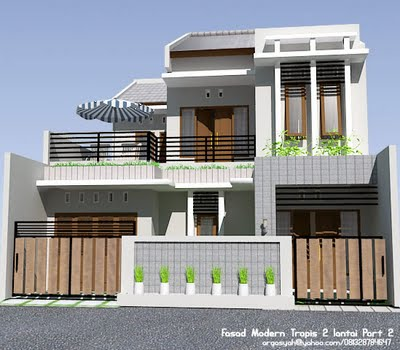 gambar rumah 2 lantai on Hanif Blog: Desain Rumah Minimalis
