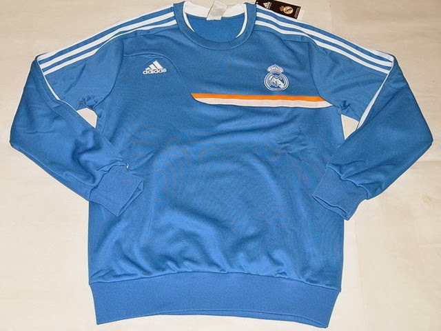 Grosir Sweater GO Training Real Madrid Blue 2014 Terbaru Big Match Jersey
