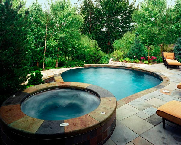 Small built in pools joy studio design gallery best design for Swimming pool spa designs