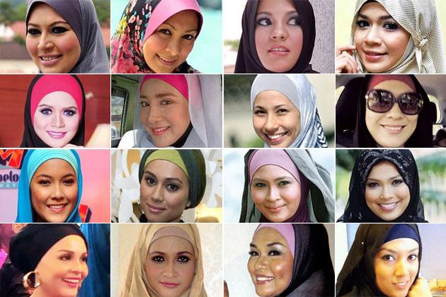 Senarai Artis Wanita Malaysia Berhijrah - Bertudung 2012