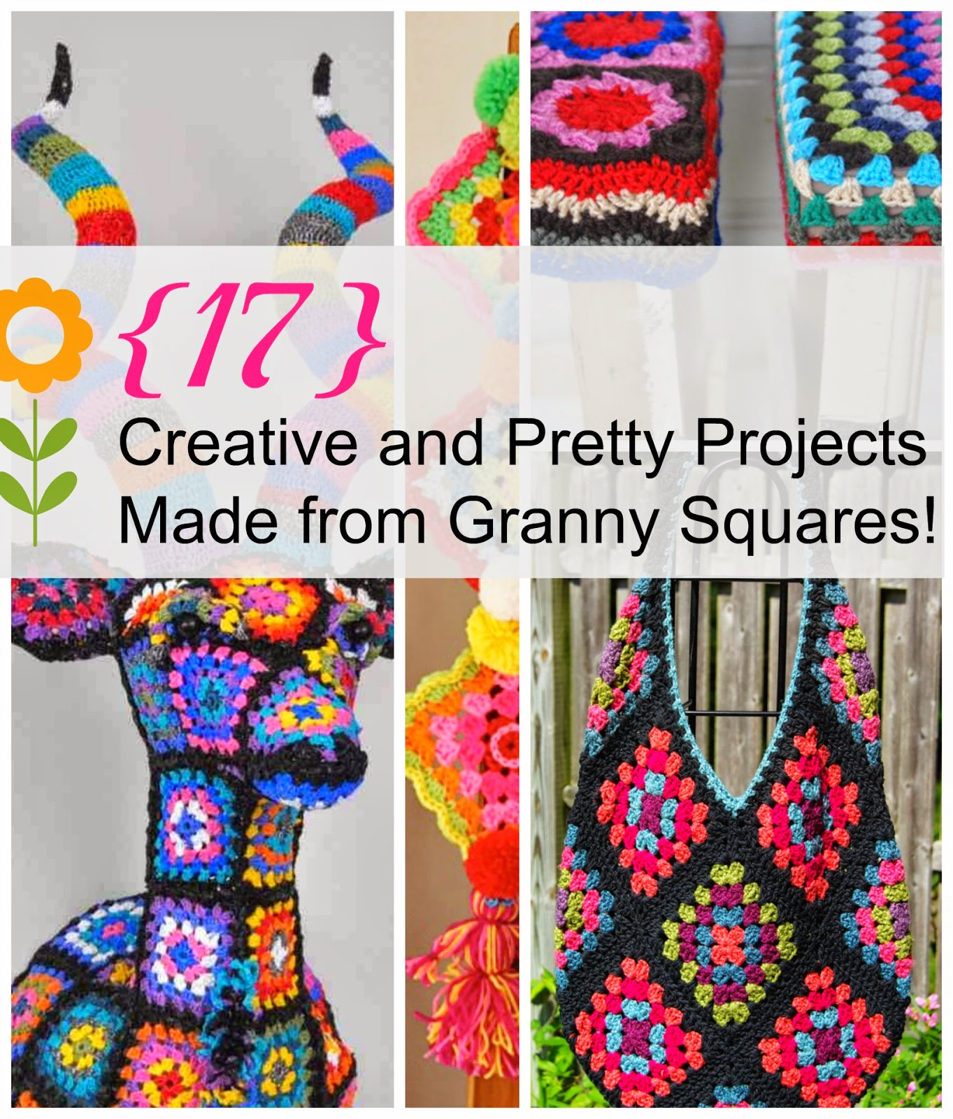 17 pretty projects to make with granny squares for Pretty project