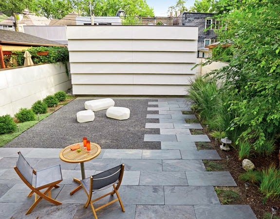 Backyard landscape ideas with patio home architekture for No grass garden ideas