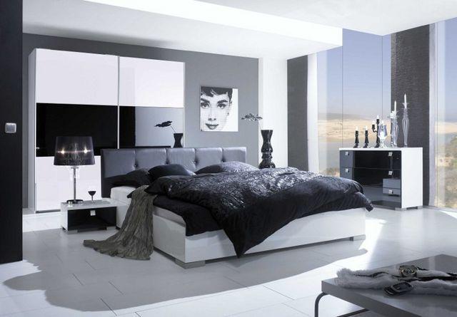 Habitaciones con estilo: FOTOS DE DORMITORIOS BLANCO Y NEGRO
