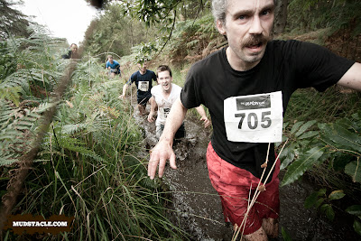 Wading through a ditch, Demon Run London