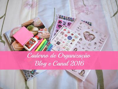 como fazer caderno de organização para blog iniciante