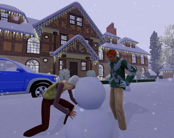 Как в симс 3 сделать снег
