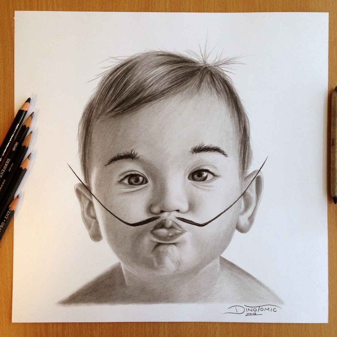02-Baby-Salvador-Dali-Dino-Tomic-AtomiccircuS-Mastering-Art-in-Eclectic-Drawings-www-designstack-co