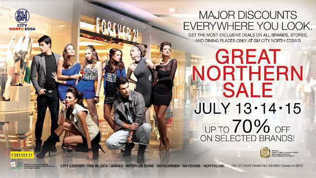great northern sale at sm city north edsa july 13 14 15 2012