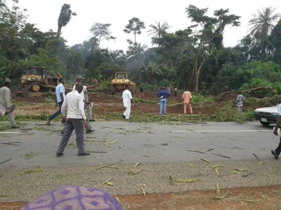 Ekiti state clear land for Airport in Aso Ayegunle Village of Ado Ekiti. 2