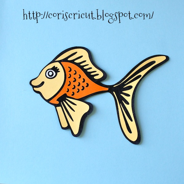 cute goldfish cartoon. I made this cute goldfish SVG,