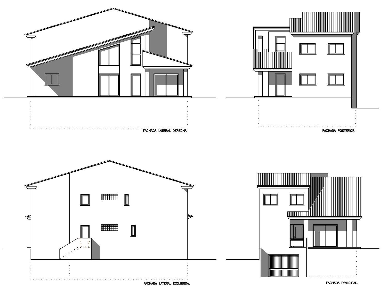 Planos low cost vivienda unifamiliar en dos plantas for Planos de viviendas unifamiliares