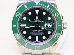 ROLEX SUBMARINER GREEN DIAL CERAMICS - ROLEX 116610LV aka HULK SUBMARINER - SERIE G - MINT COND