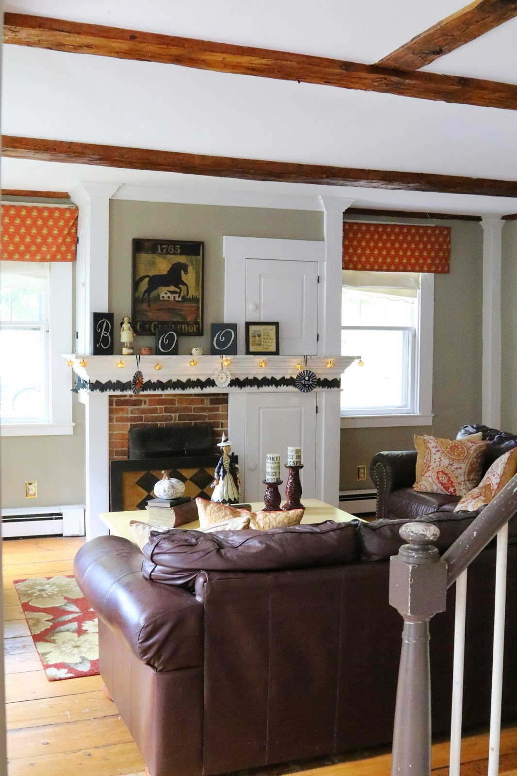 New England Living Room New England Living Halloween House Tour Witchy Great Room