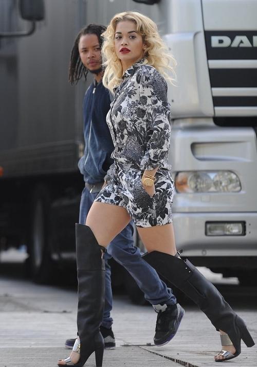 Rita Ora in Phillip Lim Ora Boot