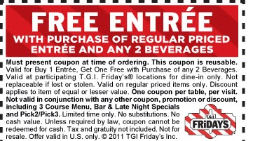 graphic regarding Fridays Printable Coupons named Tgi fridays discount codes printable july 2018 / Legitimate madrid