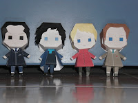download sherlock BBC paper craft boneka kertas