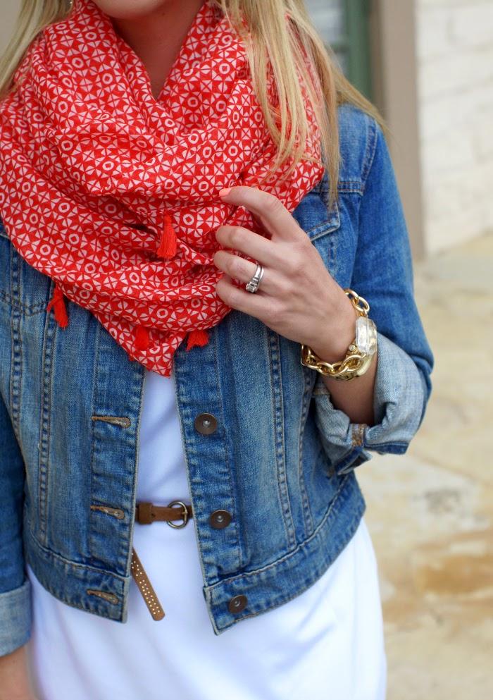 old navy tassel infinity scarf
