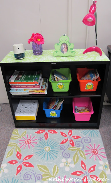 photo of: Inviting Classroom Space with Area Rug and Lamp