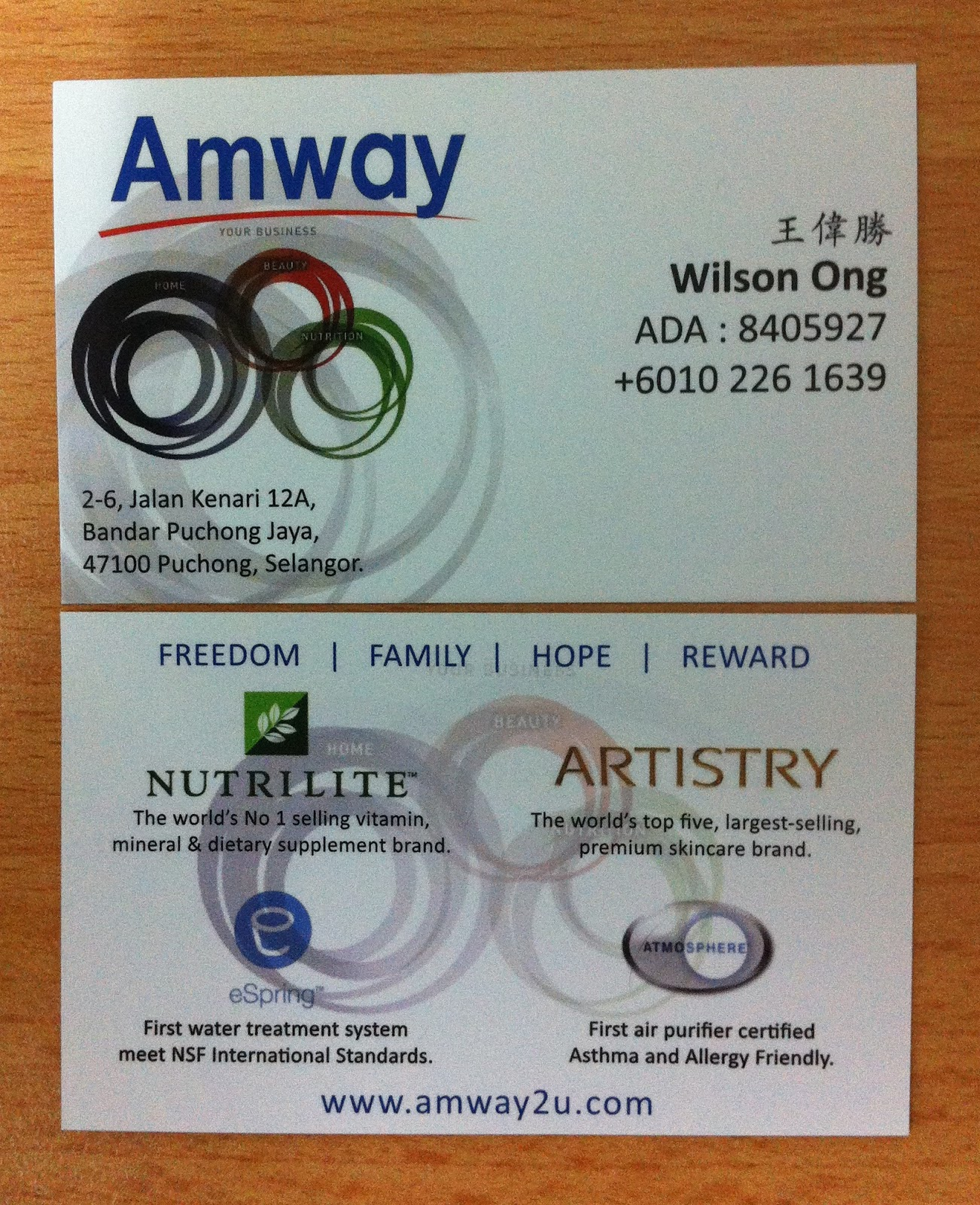 Amway Business Card Template Images - Business Cards Ideas