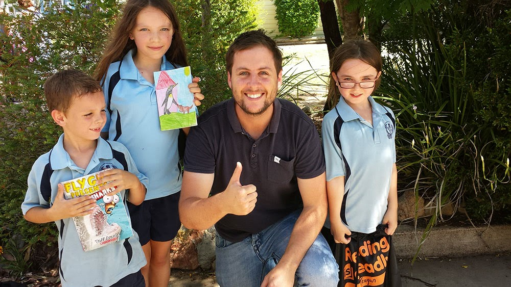 author visits school for books in homes