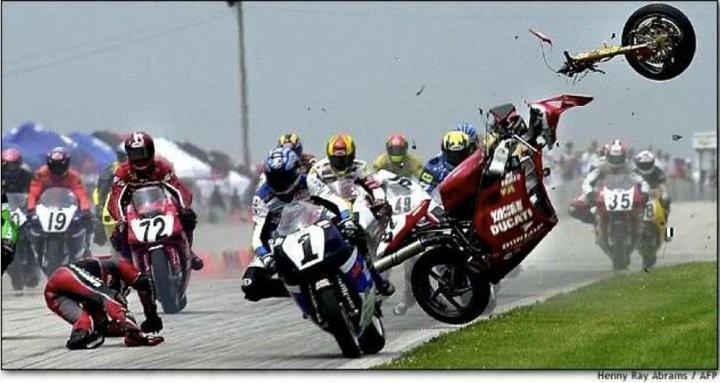 Ducati High Speed Race Accident