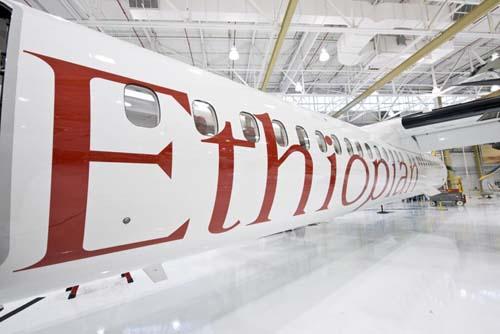 Ethiopian new Q400 Bombardier