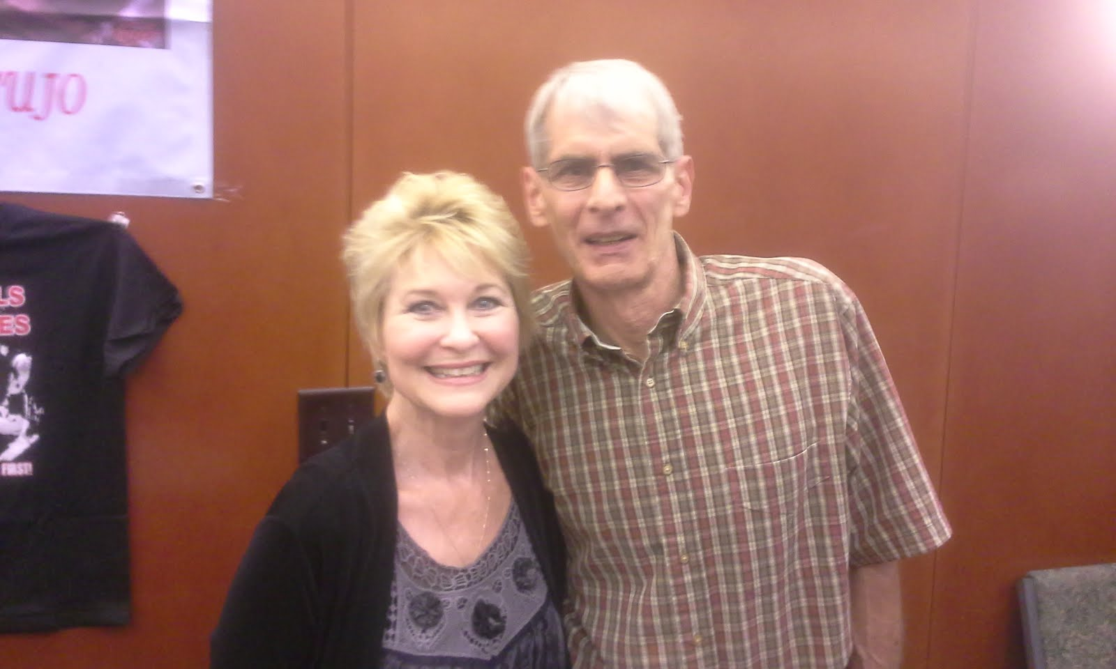 Dad with Dee Wallace