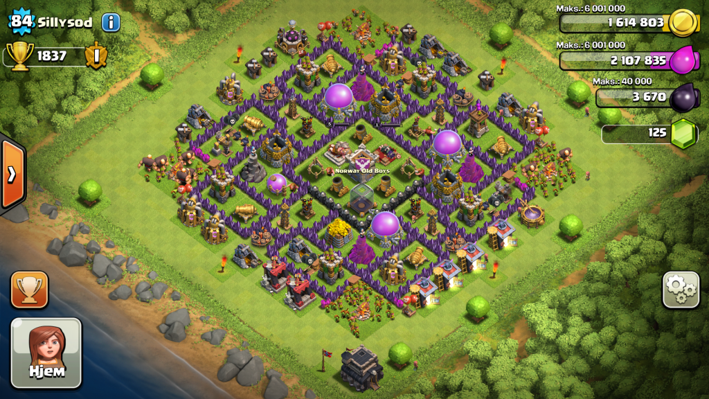 Quot anak malaysia quot defensive base clash of clans defence town hall 9
