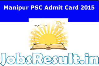 Manipur PSC Admit Card 2015